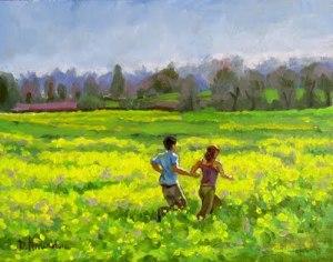 running in the mustard field 2